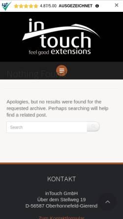 Vorschau der mobilen Webseite www.intouch-extensions.de, InTouch GmbH