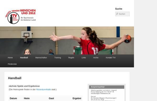 Vorschau von www.handball-in-idstein.de, TV 1844 Idstein Abteilung Handball