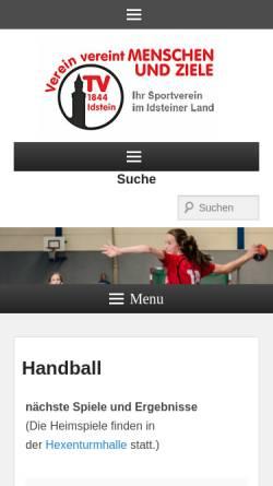Vorschau der mobilen Webseite www.handball-in-idstein.de, TV 1844 Idstein Abteilung Handball