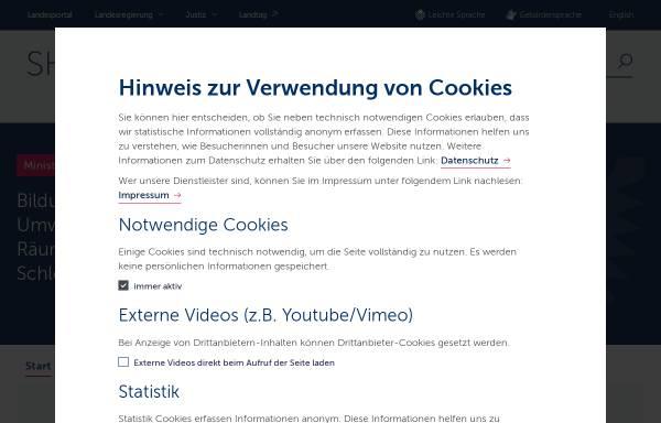 Vorschau von www.schleswig-holstein.de, Akademie für Natur und Umwelt des Landes Schleswig-Holstein