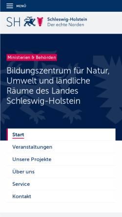 Vorschau der mobilen Webseite www.schleswig-holstein.de, Akademie für Natur und Umwelt des Landes Schleswig-Holstein