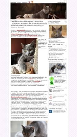 Vorschau der mobilen Webseite www.casa-prima.com, Chartreux Katzen von Casa-Prima.com