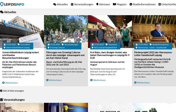 Vorschau von www.leipziginfo.de, Informationportal für Leipzig
