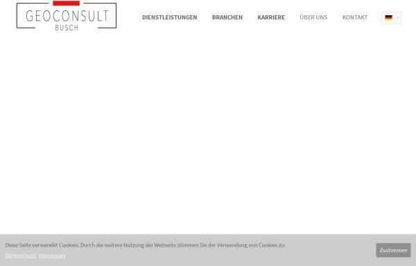 Vorschau von www.gcb-ac.de, Geoconsult Busch