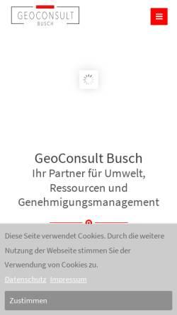 Vorschau der mobilen Webseite www.gcb-ac.de, Geoconsult Busch
