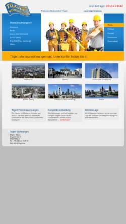 Vorschau der mobilen Webseite www.personalwohnungen.de, Monteurwohnungen und Unterkünfte