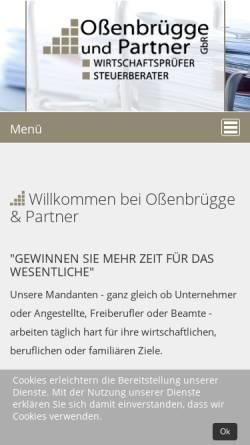 Vorschau der mobilen Webseite www.ossenbruegge.de, Steuerberatungskanzlei Oßenbrügge und Partner GbR
