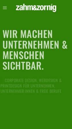 Vorschau der mobilen Webseite www.zahmundzornig.de, Zahm & Zornig Werbeagentur - Inh. Michael Bertrams