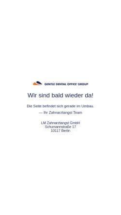 Vorschau der mobilen Webseite www.zahnarztangst.de, Zahnarztangst.de