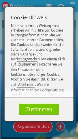 Vorschau der mobilen Webseite www.engel-reisen.de, Engel Reisen GmbH & Co. KG