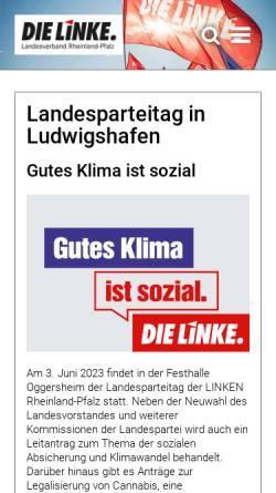 Vorschau der mobilen Webseite www.dielinke-rhlp.de, Die Linke. Rheinland-Pfalz