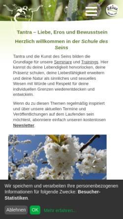 Vorschau der mobilen Webseite www.art-of-being.de, Schule des Seins