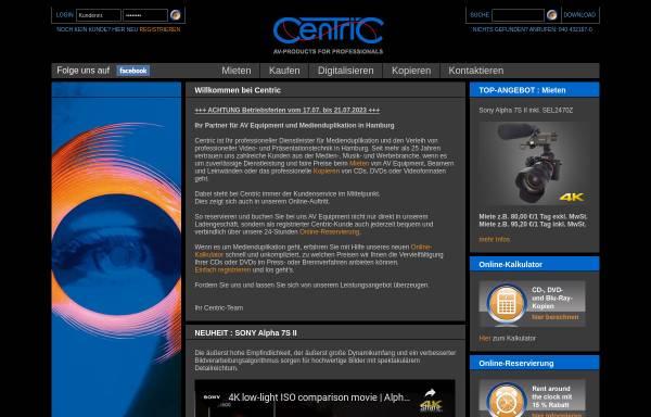 Vorschau von www.centric.de, Centric AV-Medien