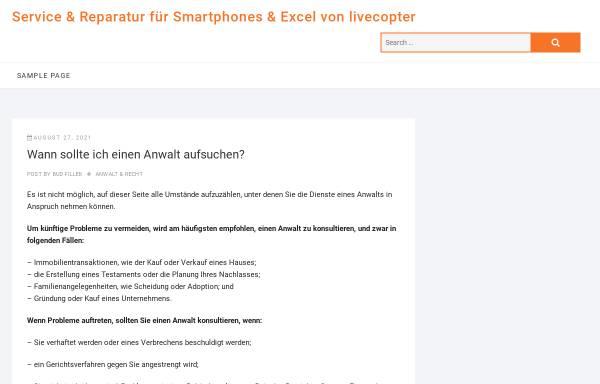 Vorschau von www.livecopter.de, LiveCopter e.K.