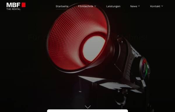 Vorschau von www.mbf.de, MBF Filmtechnik GmbH
