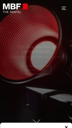 Vorschau der mobilen Webseite www.mbf.de, MBF Filmtechnik GmbH