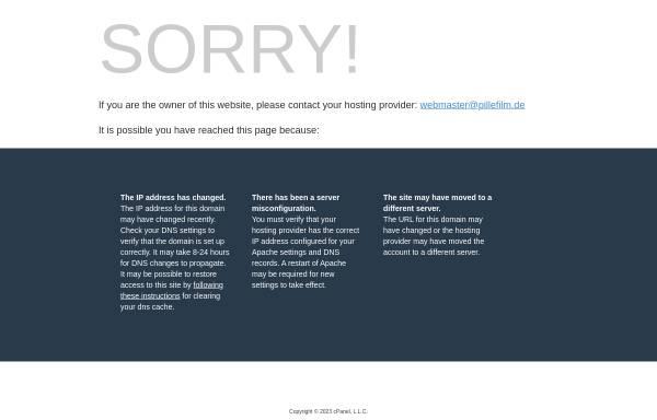 Vorschau von www.pillefilm.de, Pille Filmgeräteverleih GmbH