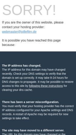 Vorschau der mobilen Webseite www.pillefilm.de, Pille Filmgeräteverleih GmbH
