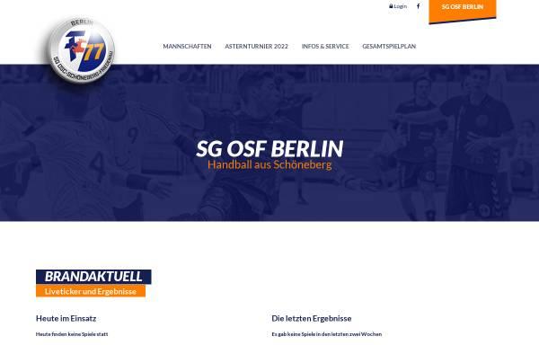 Vorschau von www.sg-osf.de, SG OSC-Schöneberg-Friedenau