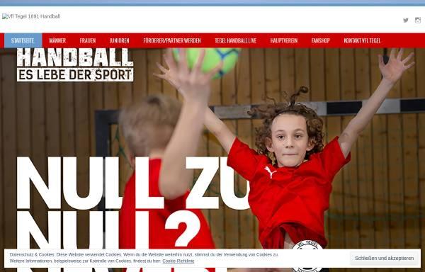 Vorschau von tegel-handball.de, VfL Tegel Handball