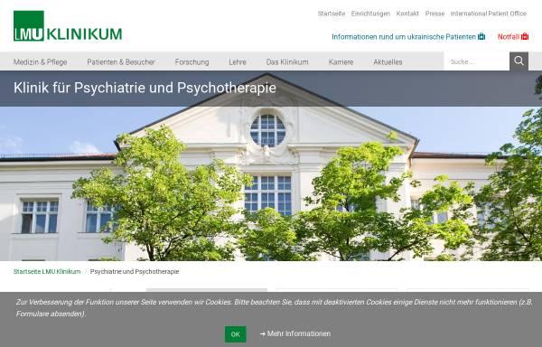 Vorschau von www.klinikum.uni-muenchen.de, Historie der Königlich Psychiatrischen Klinik in München