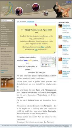 Vorschau der mobilen Webseite www.tanzsport-essen.de, Casino Blau-Gelb Essen e.V.