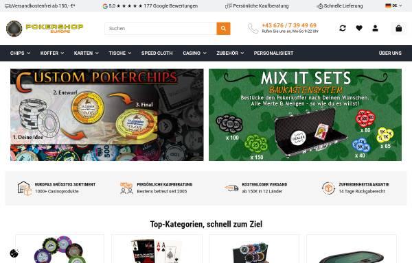 Vorschau von www.pokershop.at, Pokershop Handels Gmbh