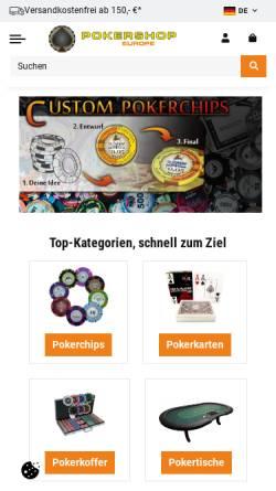 Vorschau der mobilen Webseite pokershop.de, Pokershop Handels Gmbh