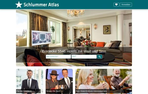 Vorschau von www.schlummer-atlas.de, Schlummer Atlas Online