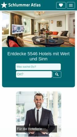 Vorschau der mobilen Webseite www.schlummer-atlas.de, Schlummer Atlas Online