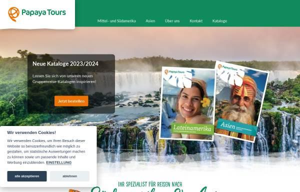 Vorschau von www.papayatours.de, Papaya Tours GmbH