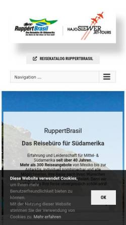 Vorschau der mobilen Webseite www.ruppertbrasil.de, RuppertBrasil