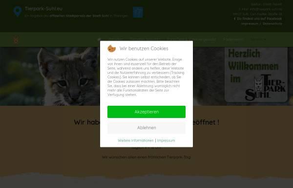 Vorschau von tierpark-suhl.eu, Tierpark Suhl