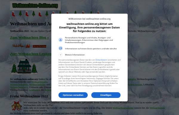 Vorschau von www.weihnachten-online.org, Weihnachten Online
