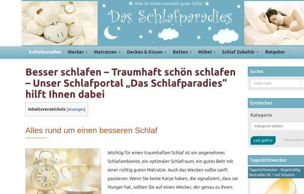 Vorschau von www.schlummerzeit.de, Schlummerzeit; Inh. H. Ganschof