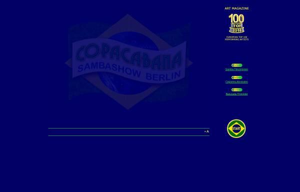 Vorschau von www.Sambashow.Berlin, Copacabana Sambashow Berlin