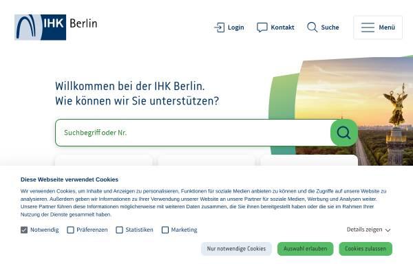 Vorschau von www.ihk-berlin.de, Industrie und Handelskammer Berlin (IHK)