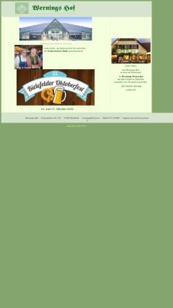 Vorschau der mobilen Webseite www.wernings.de, Wernings