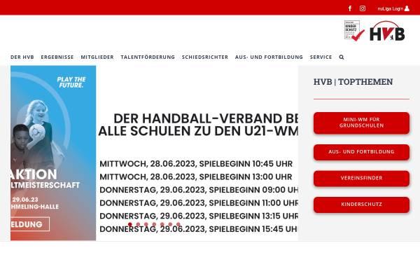 Vorschau von www.hvberlin.de, Handball-Verband Berlin e.V.