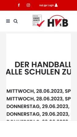 Vorschau der mobilen Webseite www.hvberlin.de, Handball-Verband Berlin e.V.
