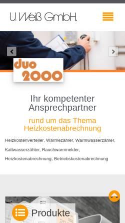 Vorschau der mobilen Webseite www.uweissgmbh.de, U.Weiß GmbH