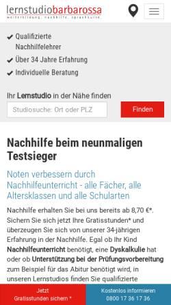 Vorschau der mobilen Webseite www.nachhilfedirektundgut.de, Nachhilfe Direkt