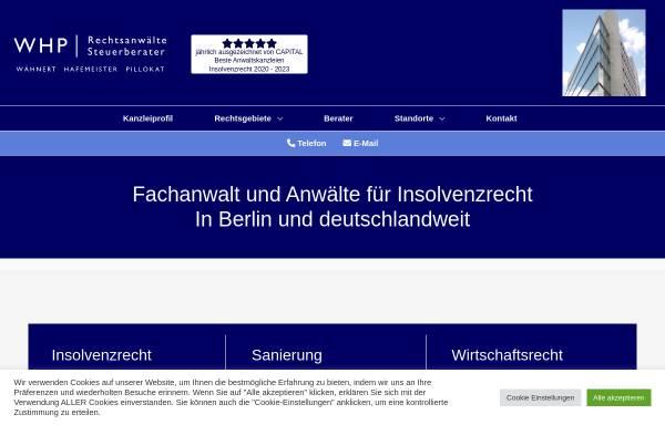 Vorschau von www.wpra.de, Wpra, Insolvenzrecht, Wirtschaftsrecht, Sanierung Berlin