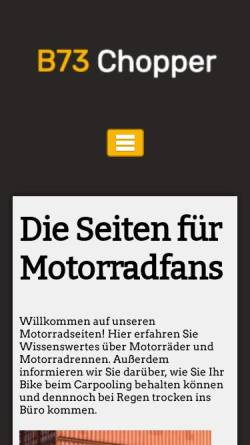 Vorschau der mobilen Webseite www.b73chopper.de, B73 Chopper