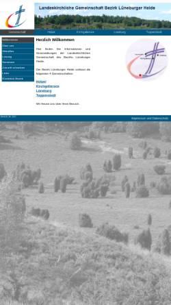 Vorschau der mobilen Webseite www.lkg-lh.de, LKG Lüneburger Heide