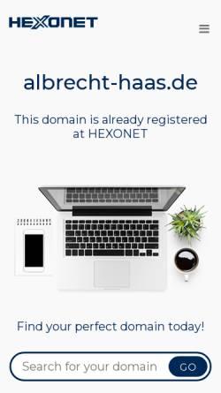 Vorschau der mobilen Webseite www.albrecht-haas.de, Albrecht Haas & Partner