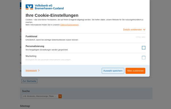 Vorschau von www.volksbankeg-direkt.de, Volksbank eG direkt