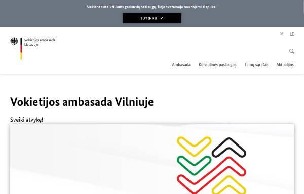 Vorschau von www.wilna.diplo.de, Litauen, deutsche Botschaft in Wilna