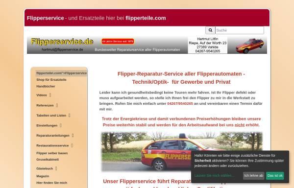 Vorschau von www.flipperservice.de, Litfin - Spielautomaten - Inh. Hartmut Litfin