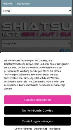 Vorschau der mobilen Webseite www.shiatsu-netz.de, Shiatsu-Netz